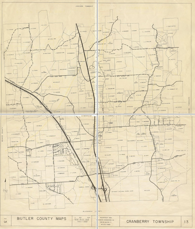 1960 Cranberry Township Map