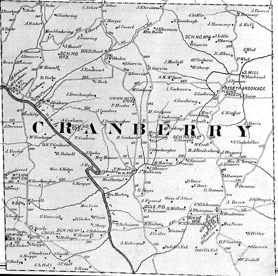 Cranberry Township Map of 1874