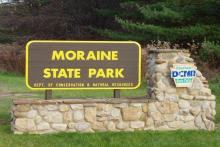 Moraine State Park Entrance Sign